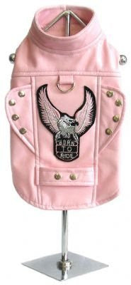 Born To Ride Motorcycle Harness Jacket - Pink Medium