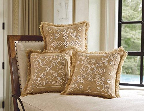 Fringed Flourish Square Pillows