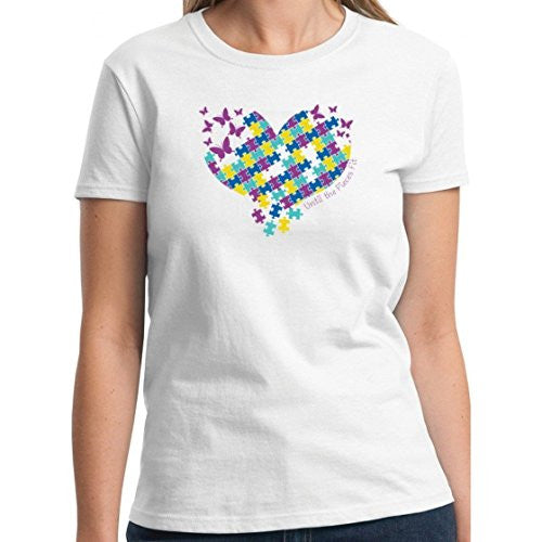 "Autism Awareness ""Butterfly"" Cotton Unisex T-Shirt (White, XLarge)"