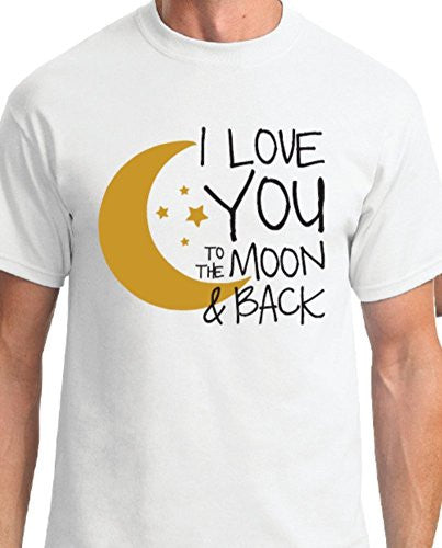 I Love You to the Moon & Back White Unisex T-Shirt, Small