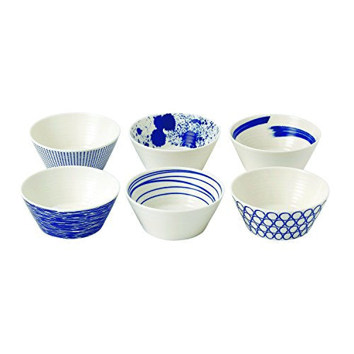 "PACIFIC SET OF 6 TAPAS BOWLS 4.3"" (MIXED PATTERNS)"