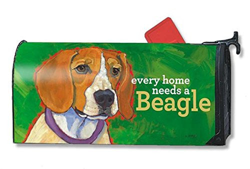 "Beagle Mail Wrap, 6.5"" x 19"" Mailbox"