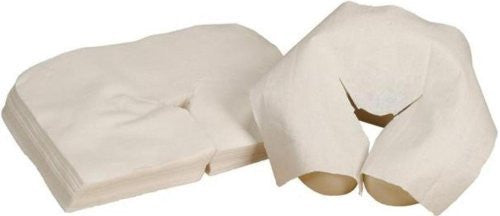 Disposable Covers for Massage Table Crescent Head Rests (Package of 100)