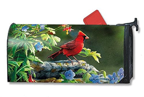 "OS Cardinal Perch Mail Wrap, 8"" x 21"" Mailbox"
