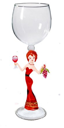 Wine glass / Lady with grapes