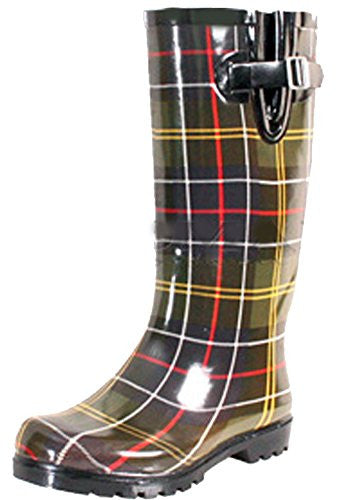 Puddles - Green Multi Plaid, Size 8 US