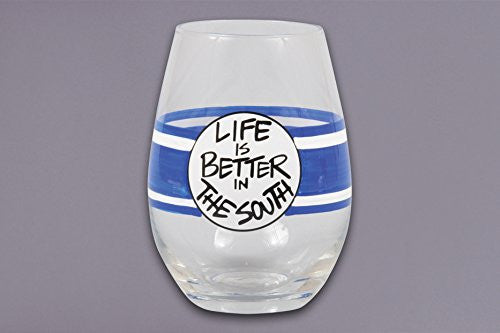 LIFE IS BETTER Stemless glass