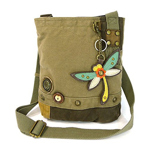 Patch Crossbody Bag - Dragonfly, Olive