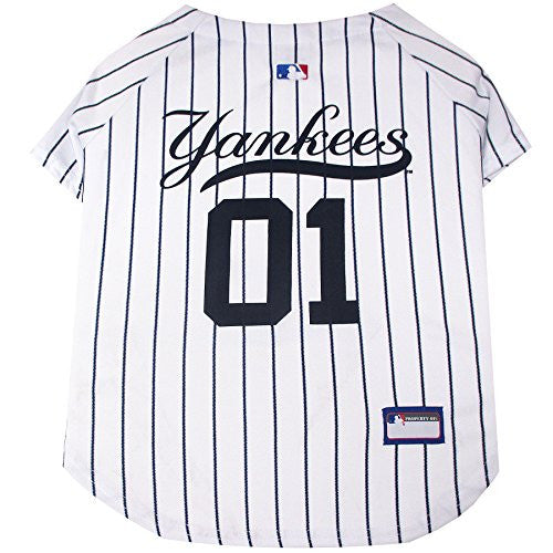Pets First MLB New York Yankees Dog Jersey, Small