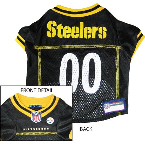 Pittsburgh Steelers - NFL Dog Jerseys, black w/ yellow trim, medium