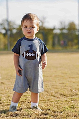 Football Birthday One-Piece,Size: 12-18 months