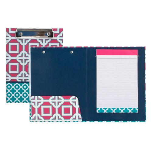 Medium Padfolio with Clipboard - Pink Charmer