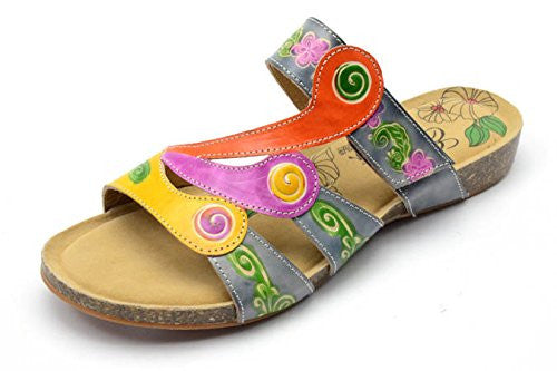 Swirl Women's Sandals - Grey Multi Size 9