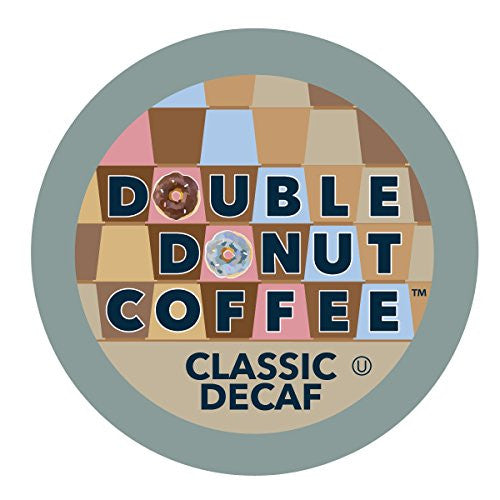 Double Donut Coffee Single Serve Cups for Keurig K-Cup Brewer, Classic Decaf, 12 Count