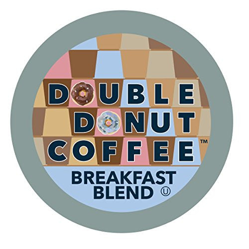 Double Donut Coffee Single Serve Cups for Keurig K-Cup Brewer, Breakfast Blend, 12 Count