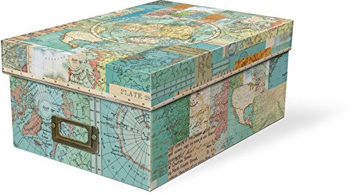 World Atlas Photo Storage Boxes (Includes 10 divider cards and metal label holder)