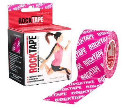 RockTape Kinesiology Tape for Athletes - 2-Roll Gift Pack, Pink Logo