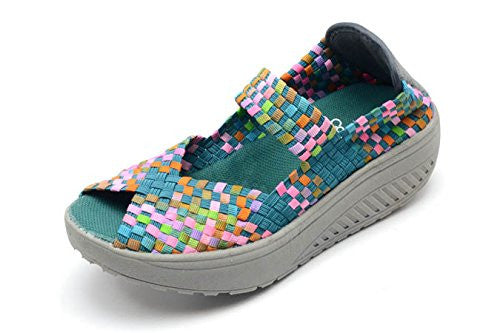 Featherlite Beth Women's Shoes - Turquoise/Multi Size 8