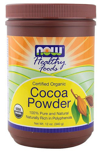 NOW Foods Healthy Foods Certified Organic Cocoa Powder -- 12 oz