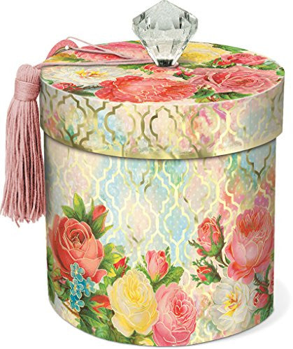 Modern Rose Boudoir Collection Toilet Tissue Holder with Lid
