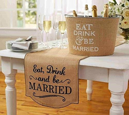 Eat, Drink & Be Married Table Runner