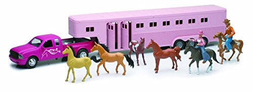 Pink Pick Up with Firth Wheel Horse Trailer Set
