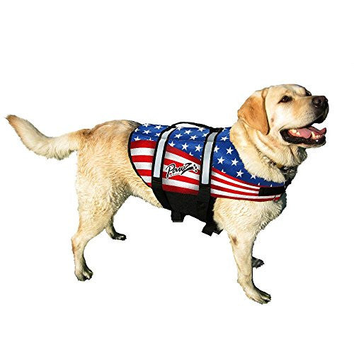 American Flag Pawz Pet Products Doggy Life Jacket - X-Large