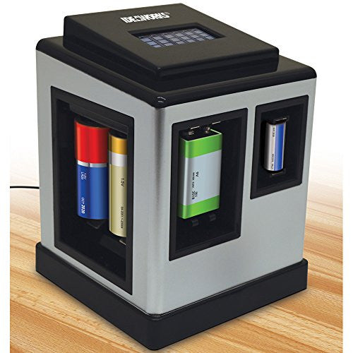 Electric Battery Charging And Testing Station With Easy-to-Read LCD Screen