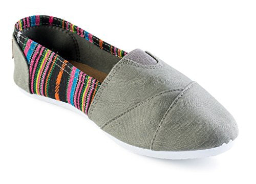 Wholesale Women's Canvas Shoes, Grey, Size 6