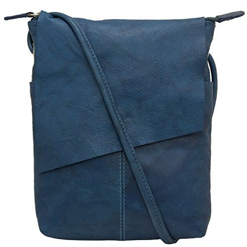 Rawhide Flap/Crossbody with adjustable strap - Jeans Blue