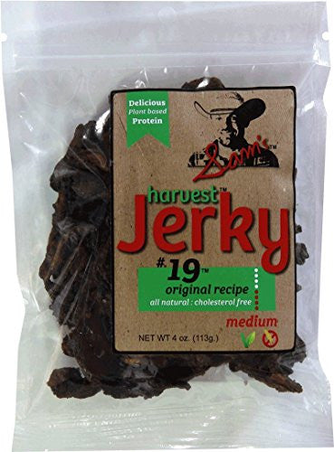 Sam's Harvest Jerky - Original Recipe, 4 oz. Bag (Pack of 12)