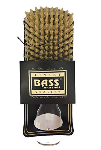 Bass Brushes Classic Men's Club SOFT 153S Style: 100% Wild Boar Bristles, Assorted Acrylic Handle Colors