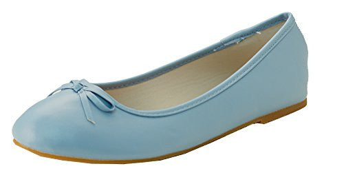 Wholesale Women's Ballet Flats - Light Blue, Size 7