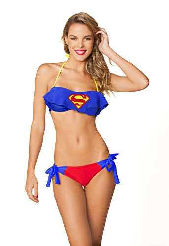 Cami Bandeau Side Tie Bottom - Superman, Size S