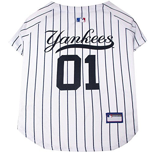 New York Yankees Dog Jersey - Pinstripe Small
