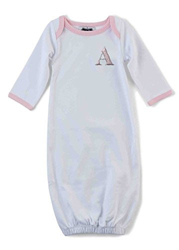 Pink Initial Sleep Gown - Individual Letters,A