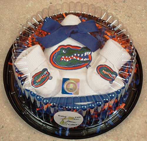 Florida Gators Piece Of Cake Baby Gift Set (NB - 3 Months, Color Trim)