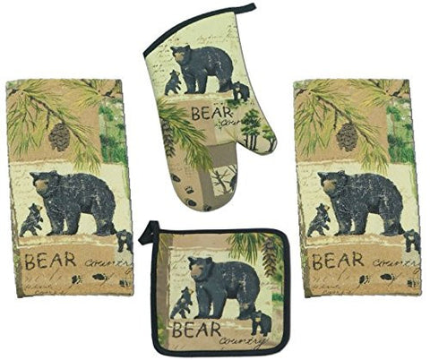 WILDERNESS TRAIL, BEAR TERRY TOWEL, WILDERNESS TRAIL, BEAR POTHOLDER, WILDERNESS TRAIL, BEAR OVEN MITT