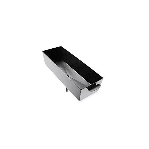 Bar Drain Tray with Plastic Tube - Black Powder Coated Metal