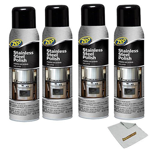 Zep Stainless Steel Polish, 14oz.