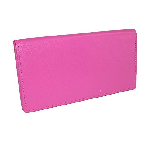 Checkbook with pen holder - Fab Fuchsia