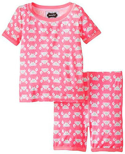 Crab Short Pajama Set,Size: 4T