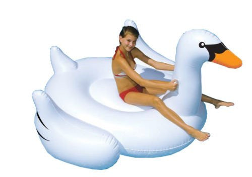 Inflatable Ride-On Giant Swan