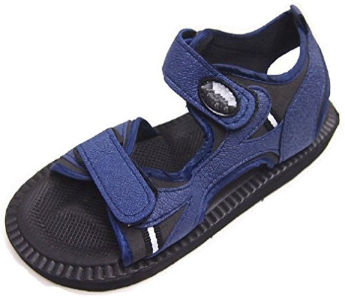 Wholesale Men's Velcro Strap Sandals - Navy, Size 9
