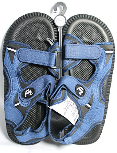 Sandals for Men Velcro Strap (12, Navy)