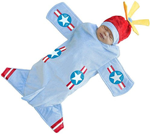 Bennett the Bomber Swaddle & Hat 0/3M