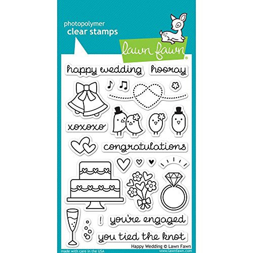 Lawn Fawn Clear Stamps - LF887 Happy Wedding