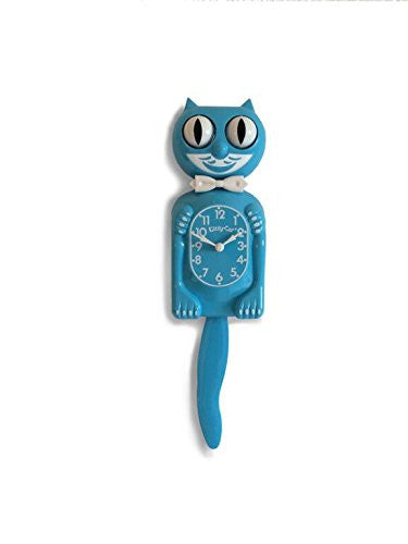 Limited Edition Scuba Blue Kitty-Cat Clock - Made by Kit-Cat Klock® 3/4 Size Authentic