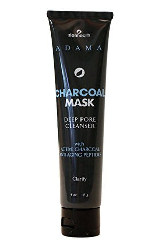 Zion Health Charcoal Mask - Intense Purifying Mask with volcanic clay-4oz