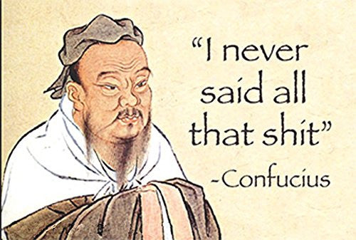 """I never said all that shit"" - Confucius - Rectangular Magnet"